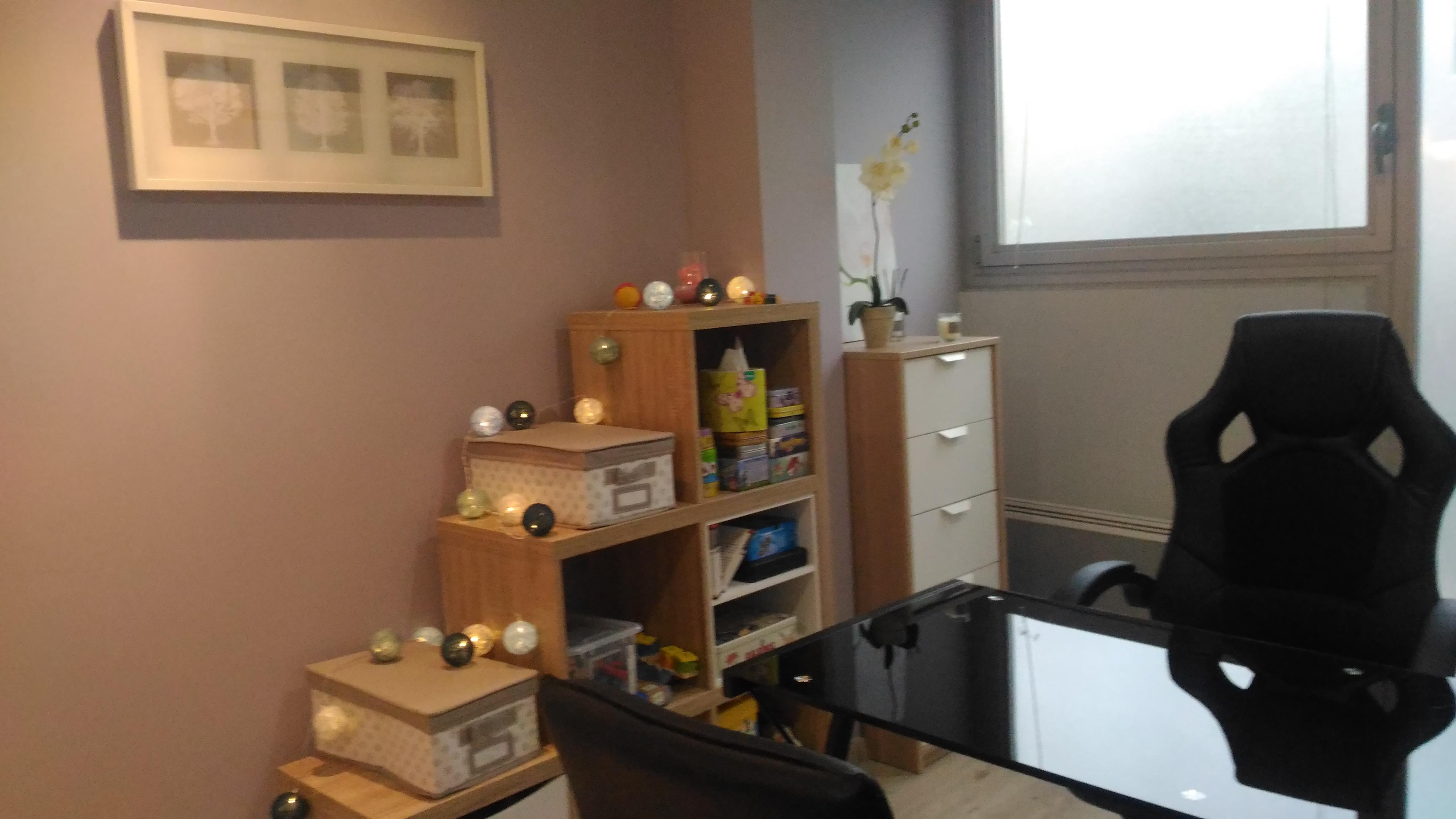 L'espace bureau et jeux pour les enfants